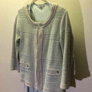 CAbi - NWOT - Society Sweater Mint 3/4 sleeves